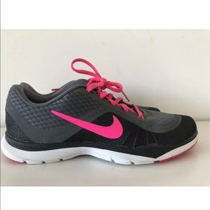 Nike Pink Black Running Athletic Shoes